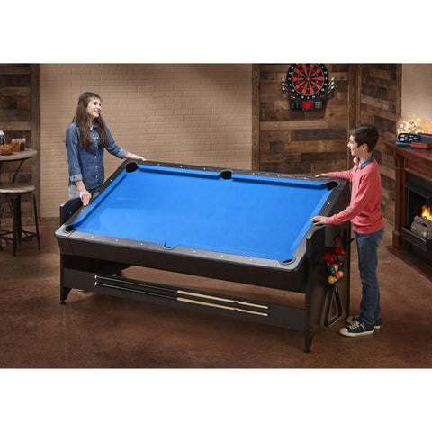 Fat Cat Original 3-in-1 7' Pockey Multi-Game Table Blue