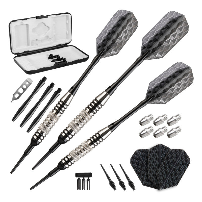 Viper Bobcat Darts Adjustable Soft Tip Darts Black Rings 16-18 Grams Soft-Tip Darts Viper