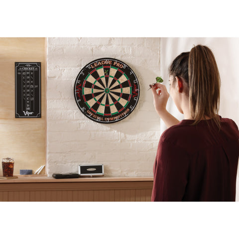 Viper League Pro Sisal Dartboard Starter Kit Steel-Tip Dartboard Viper