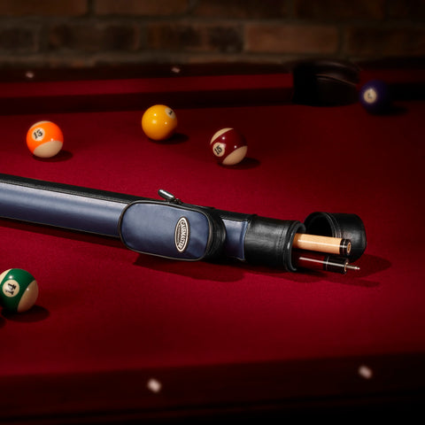 Image of Casemaster Q-Vault Supreme Blue Cue Case Billiard Cue Case Casemaster