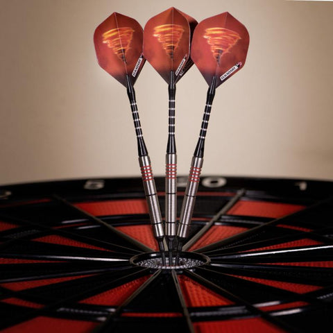 Image of Elkadart Tornado 90% Tungsten Soft Tip Dart Set 4 Red and 2 Black Rings Soft-Tip Darts Elkadart