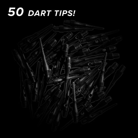 Viper Tufflex Tips III 2BA Black 50Ct Soft Dart Tips