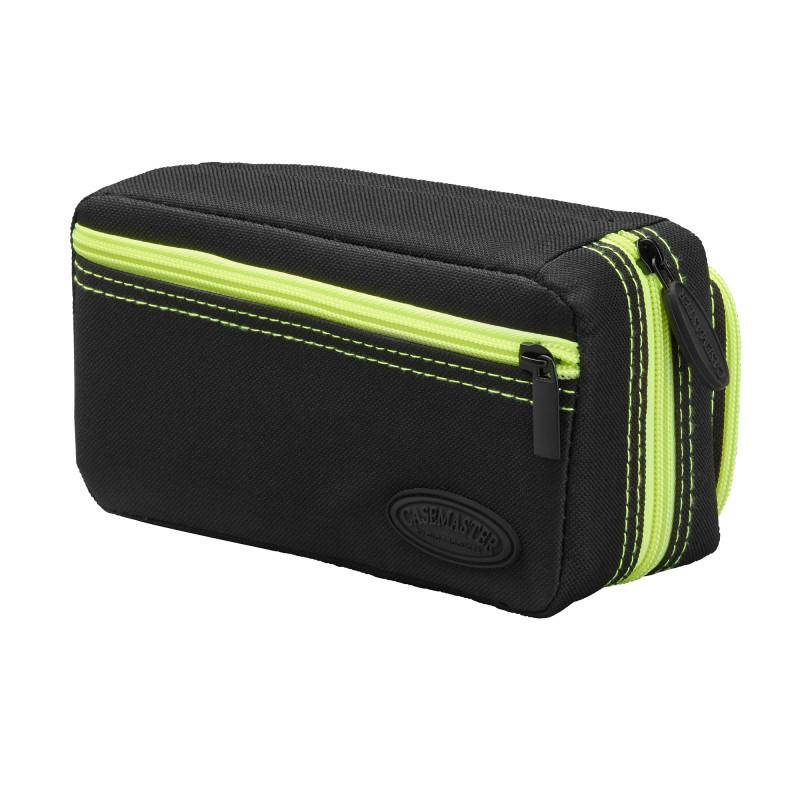 Casemaster Plazma Pro Dart Case Black with Yellow Trim and Phone Pocket Dart Cases Casemaster