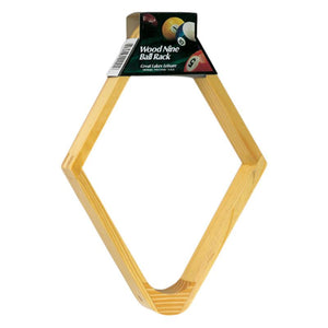 Viper Wood 9-Ball Rack Billiard Accessories Viper