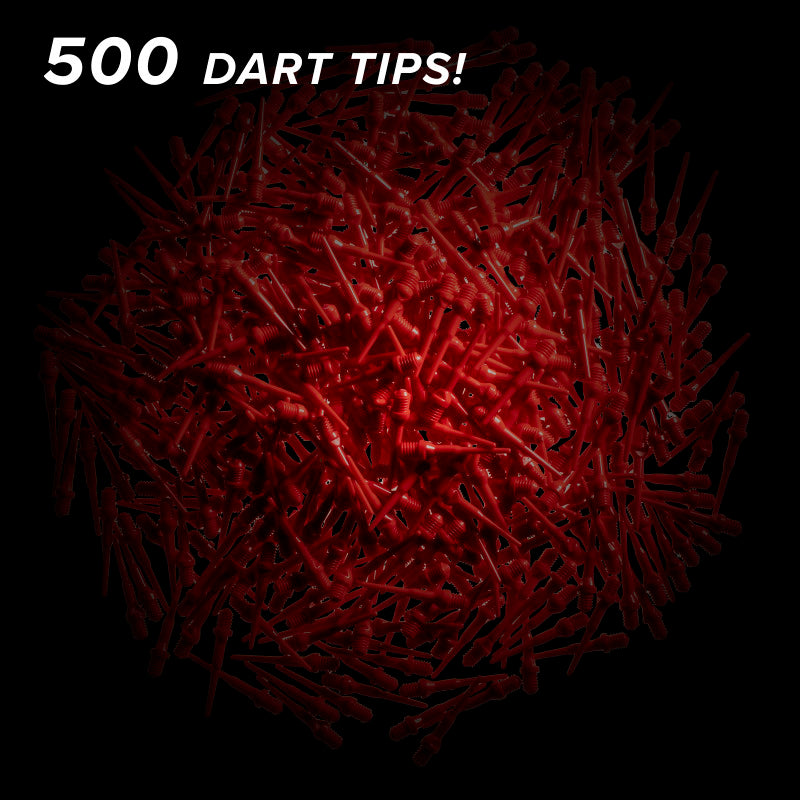Viper Tufflex Tips II 2BA Red 500Ct Soft Dart Tips Dart Tips Viper