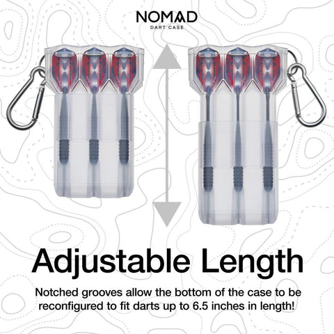Image of Casemaster Nomad Adjustable Dart Case Clear Dart Cases Casemaster