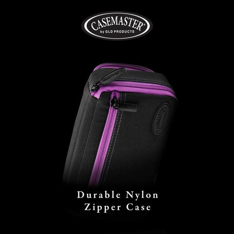 Casemaster Plazma Plus Dart Case Black with Amethyst Zipper and Phone Pocket
