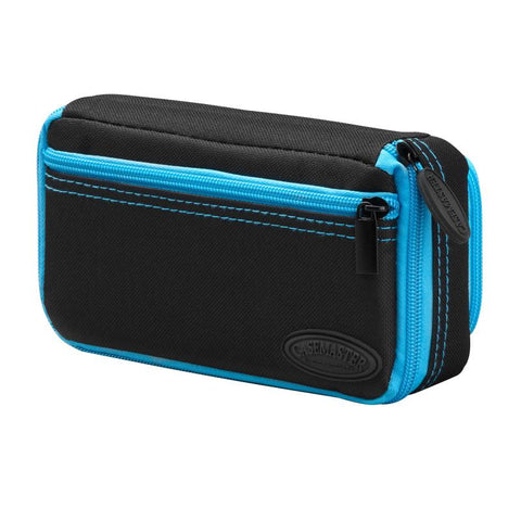 Image of Casemaster Plazma Plus Dart Case Black with Blue Trim and Phone Pocket Dart Cases Casemaster