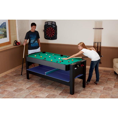 Image of Fat Cat 3-in-1 6' Flip Multi-Game Table