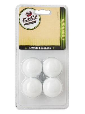Fat Cat White Foosballs - Set of 4