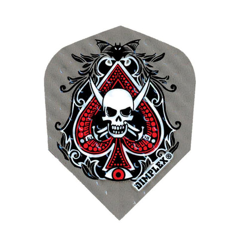 Dimplex Standard Skull/Spade Flights Dart Flights Harrows