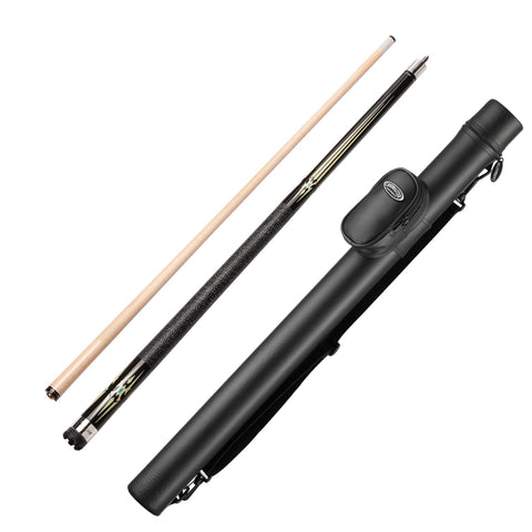 Viper Sinister Series Cue with Black and White Design and Casemaster Q-Vault Supreme Black Cue Case