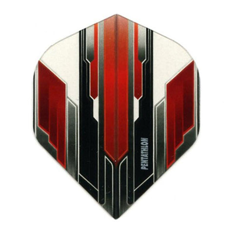 Pentathlon Standard Translucent Design White/Red/Black Flights Dart Flights Viper