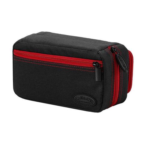 Image of Casemaster Plazma Pro Dart Case Black with Ruby Zipper and Phone Pocket Dart Cases Casemaster