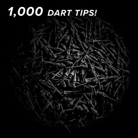 "Viper Diamond Tips 1/4"" Black 1000Ct Soft Dart Tips"