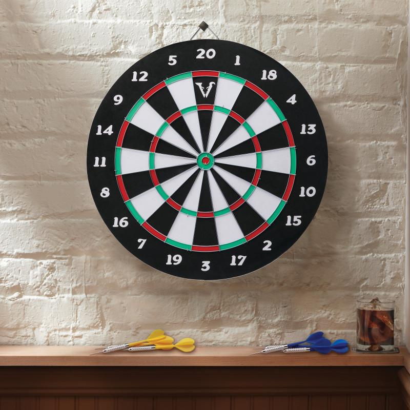 Viper Double Play Coiled Paper Fiber Dartboard with Darts