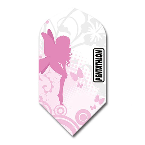 Pentathlon Slim Pink/White Design Flights Dart Flights Viper