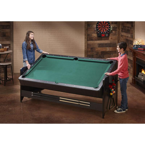 Fat Cat Original 3-in-1 7' Pockey Multi-Game Table Green