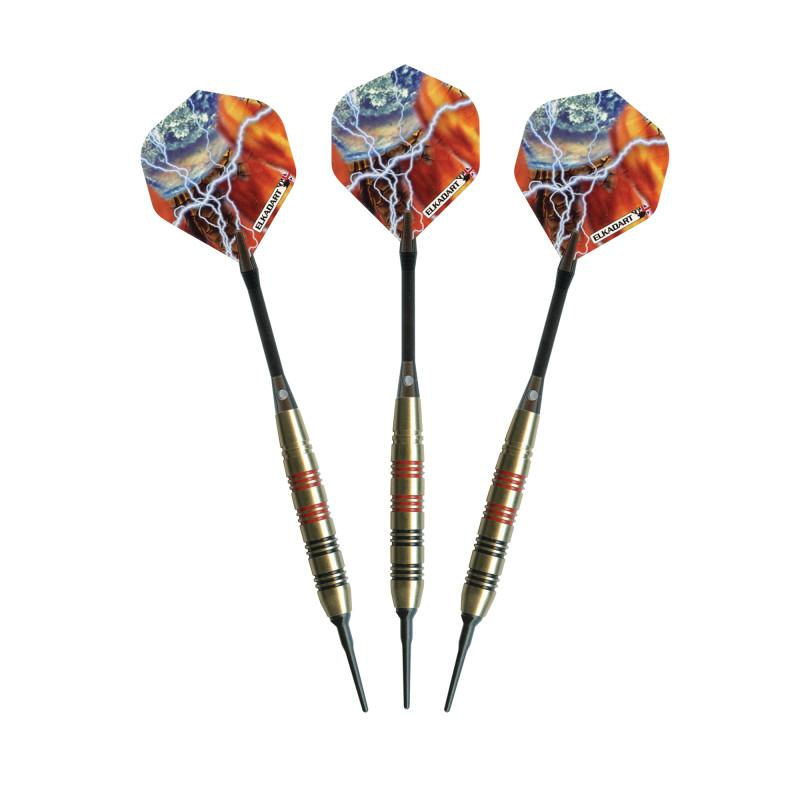 Elkadart Storm Soft Tip Black and Red Rings 18 Grams Soft-Tip Darts Elkadart