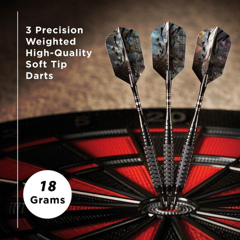 Viper Black Magic Soft Tip Darts 10 Knurled Rings 18 Grams