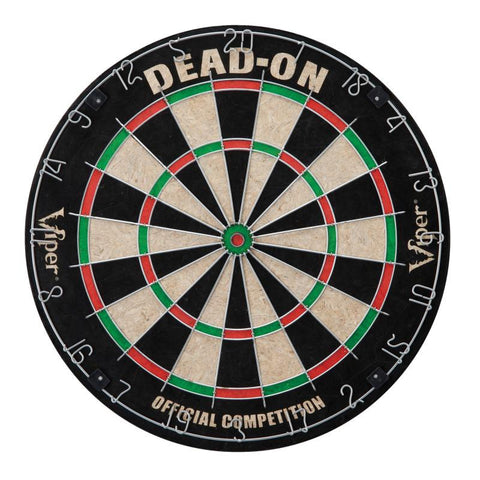 Viper Dead-On Bristle Dartboard, ProScore, Black Mariah Steel Tip Darts, and Laser Line Darts Viper