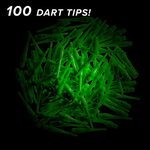 Image of Viper Tufflex Tips III 2BA Neon Green 100Ct Soft Dart Tips