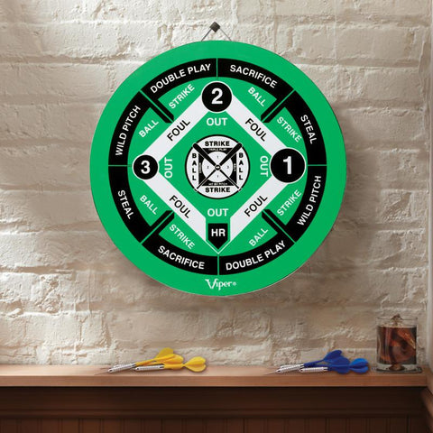 Image of Viper Double Play Coiled Paper Fiber Dartboard with Darts Steel-Tip Dartboard Viper