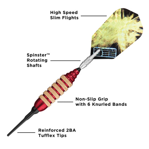 Viper Spinning Bee Red Soft Tip Darts 16 Grams