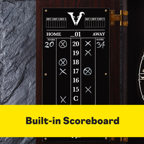 Viper Vault Deluxe Dartboard Cabinet with Pro Score Dartboard Cabinets Viper