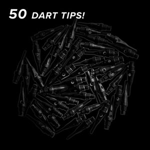 Viper Tufflex Tips SS 2BA Black 50Ct Soft Dart Tips