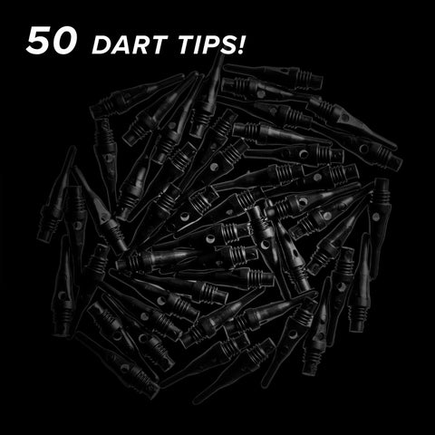 Viper Tufflex Tips SS 2BA 50Ct Soft Dart Tips Black