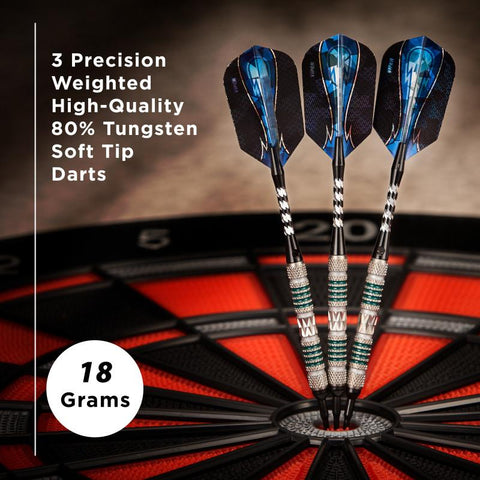 Image of Viper Astro Tungsten Soft Tip Darts Green Rings 18 Grams