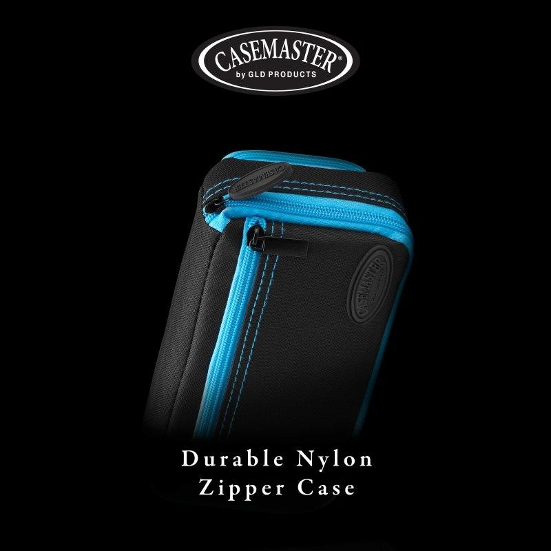 Casemaster Plazma Plus Dart Case Black with Blue Trim and Phone Pocket Dart Cases Casemaster