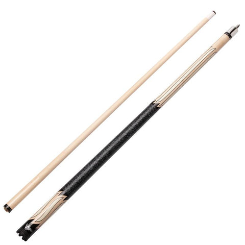 Image of Viper Sinister Series Cue with White Stripe Design and Casemaster Q-Vault Supreme Black Cue Case
