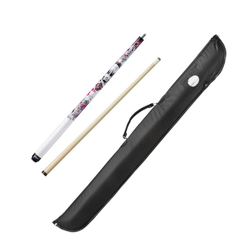 Image of Viper Underground Jr Pink Bones Cue and Casemaster Cono Case