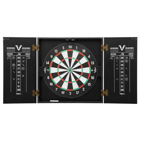 Image of Viper Hideaway Dartboard Cabinet with Reversible Traditional and Baseball Dartboard