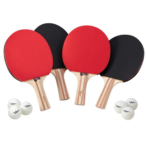 Image of Viper Two Star Tennis Table Four Racket and Six Ball Set Table Tennis Accessories Viper