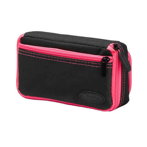 Image of Casemaster Plazma Plus Dart Case Black with Pink Trim and Phone Pocket Dart Cases Casemaster