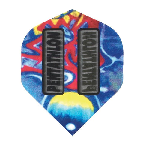 Pentathlon Standard Tie Dyed Flights Dart Flights Viper