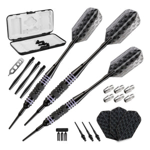 Viper Bobcat Darts Adjustable Soft Tip Darts Purple Rings 16-18 Grams Soft-Tip Darts Viper