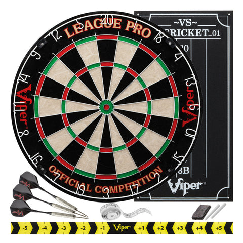 Viper League Pro Sisal Dartboard Starter Kit