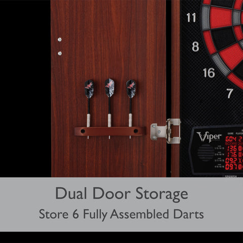 Image of Viper Neptune Electronic Dartboard and Cabinet Hybrid Soft-Tip Dartboard Viper