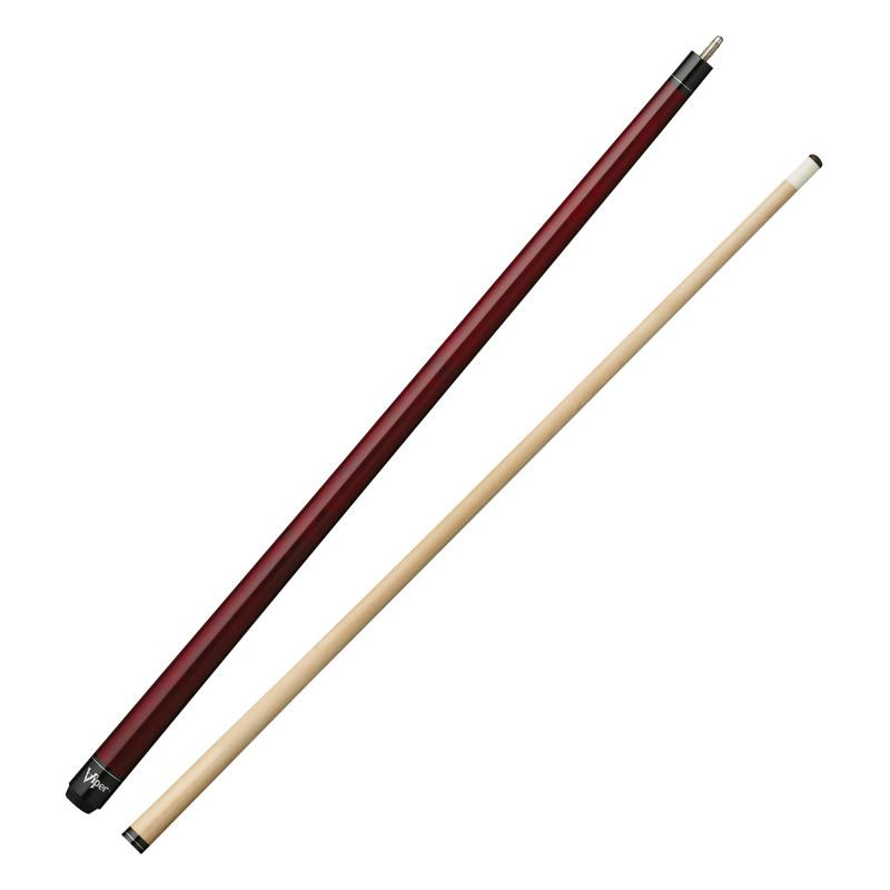 Viper Elite Series Red Unwrapped Cue and Casemaster Q-Vault Supreme Black Cue Case Billiards Viper