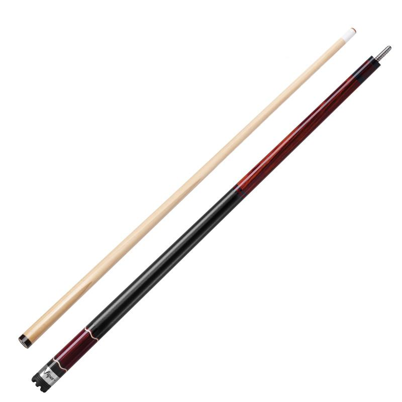 Viper Naturals Cherrywood Cue and Casemaster Q-Vault Supreme Black Cue Case Billiards Viper