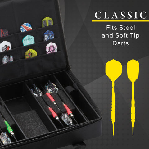 Image of Casemaster Classic Black Nylon Dart Case Dart Cases Casemaster