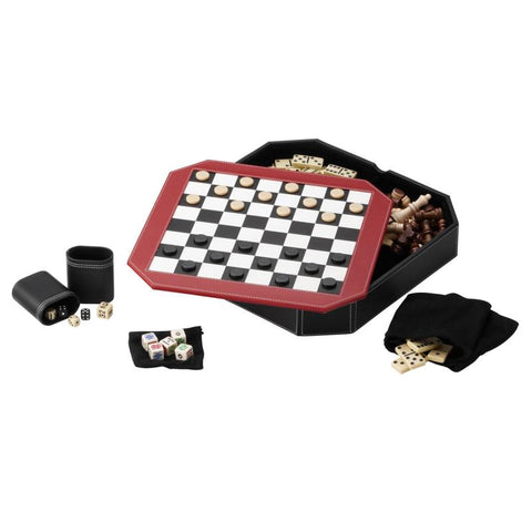 Image of Mainstreet Classics Octagon 5 in 1 Game Set
