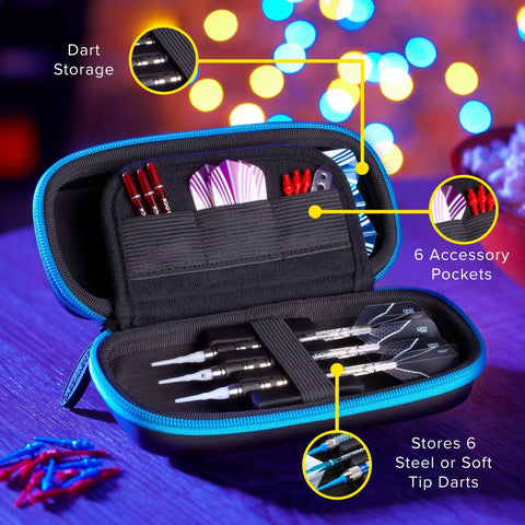 [REFURBISHED] Casemaster Sentry Dart Case with Blue Zipper Refurbished Refurbished GLD Products