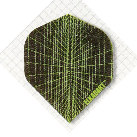 Elkadart Nylon Standard Black/Green Flights Dart Flights Elkadart