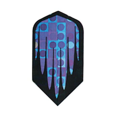 2-D Glitter Flights Slim Black/Purple