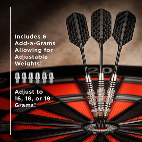 Viper Bobcat Darts Adjustable Soft Tip Darts Black Rings 16-19 Grams Soft-Tip Darts Viper